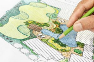 Landscape design and construction drawing